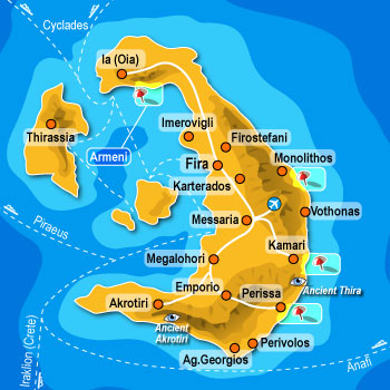 Map of Santorini